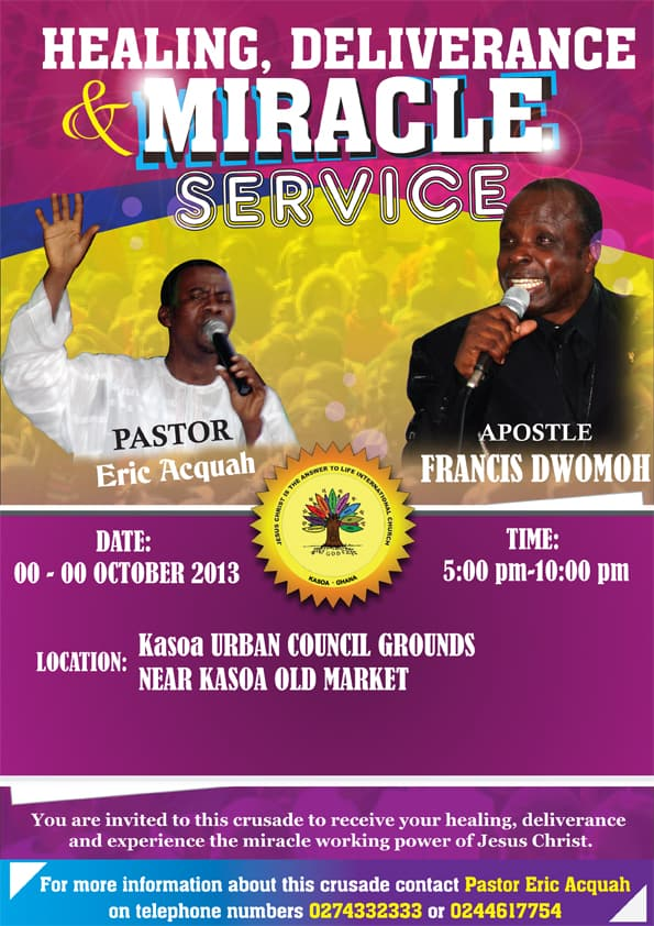 Poster   Miracle Service Ghana 2013